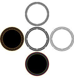 set of mayan circles vector image vector image