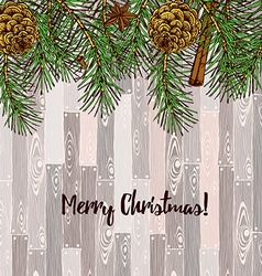 Sketch Christmas cards vector image vector image