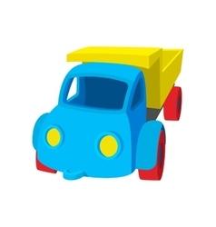 Toy truck cartoon icon vector image vector image
