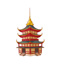 traditional japanese chinese asian pagoda vector image