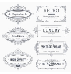 Calligraphic ornaments and frames vector image