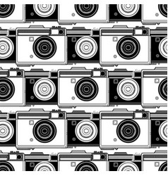graphic camera pattern vector image vector image