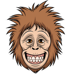 happy monkey head vector image