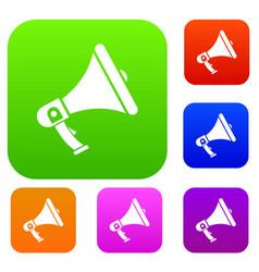 megaphone set collection vector image