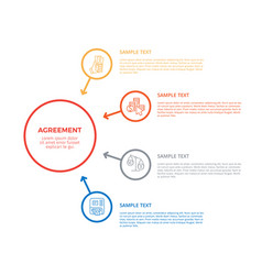 agreement infographic poster vector image vector image