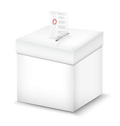 Ballot box isolated on white vector