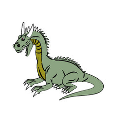 Character dragon fantasy animal design vector
