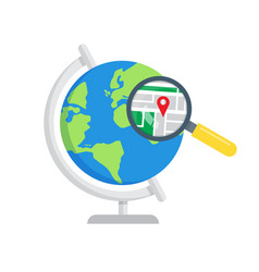 search local maps global search icon vector image vector image