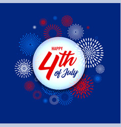 4th july independence day fireworks background vector image
