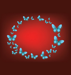 abstract red background with blue paper vector image
