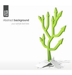 Arrows tree - growth success concept vector