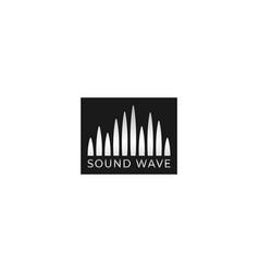 Audio wave spectrum visual logo spectrum bar vector