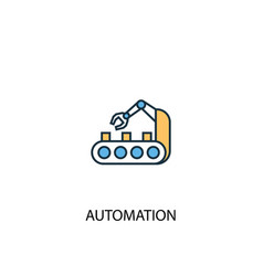 automation concept 2 colored line icon simple vector image
