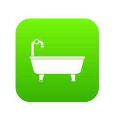 bathtub icon digital green vector image
