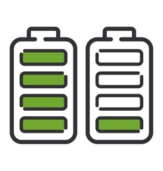 batteries electricity technology icon vector image