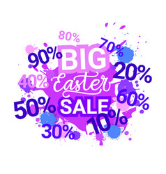 big easter sale poster design holiday discounts vector image