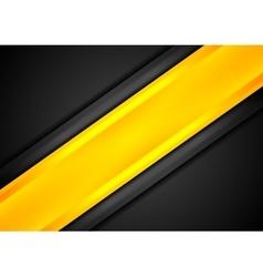 Black and orange contrast striped background vector image vector image