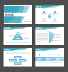 Blue polygonal presentation templates Infographic vector