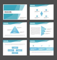 Blue polygonal presentation templates infographic vector