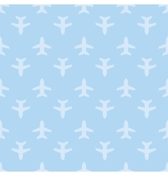 Blue seamless aircraft art background vector image