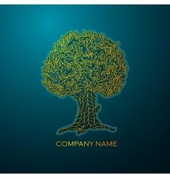 Business logo elegant gold tree vector