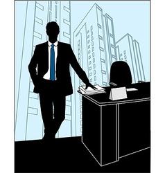 Businessmen Office silhouette vector