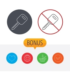 Car key icon Transportat lock sign vector image
