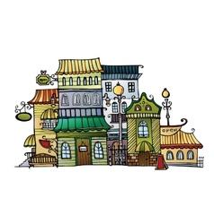 Cartoon drawing town vector