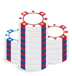 Casino chip pile vector