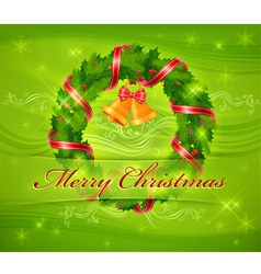 christmas ornament holy wreath 10 SS v vector image