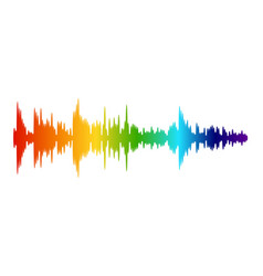 color audio wave music sound recording digital vector image