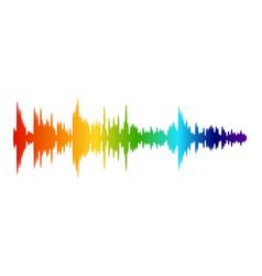 Color audio wave music sound recording digital vector