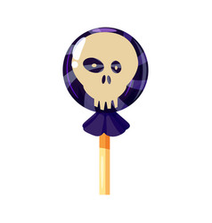 Colored sweets lollipop hard candy scull vector