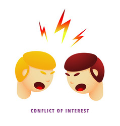 Conflict of interest flat gradient vector