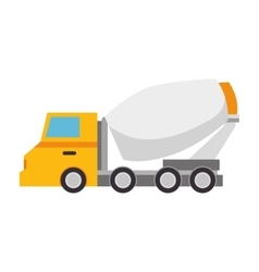 construction machinery isolated icon vector image