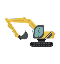 crawler excavator flat icon vector image