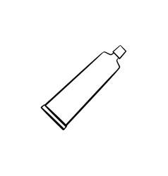 cream tube hand drawn sketch icon vector image