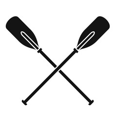 Crossed wood paddle icon simple style vector