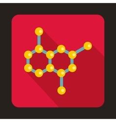 Crystal lattice icon in flat style vector