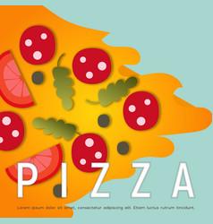 design pizza box vector image