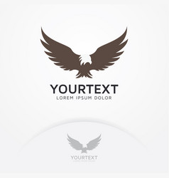 Eagle fly logo vector