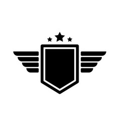 eagle wings army badges aviation wing labels vector image