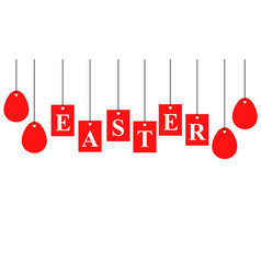 Easter card with signboard with letters vector