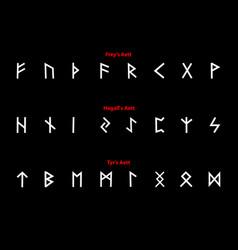 Elder futhark runes vector