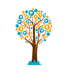 Family tree concept with people group icons vector
