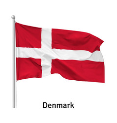 Flag kingdom denmark vector