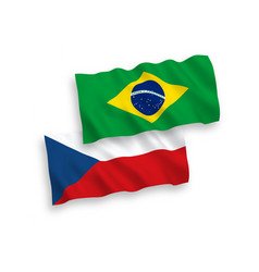 flags czech republic and brazil on a white vector image