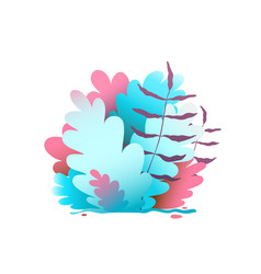 floral background design bush and leaves graphics vector image