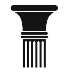 Fluted column icon simple style vector