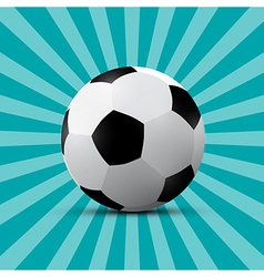 Football Ball on Blue Retro Background vector